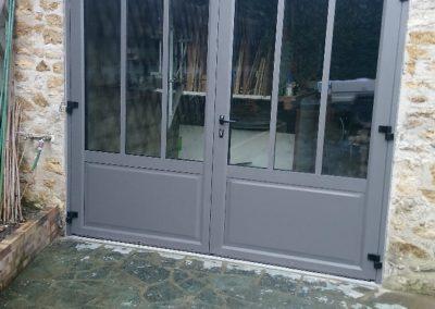Porte d'entrée en aluminium - Miroiterie Yerroise